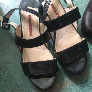 Prada small block heel sandal